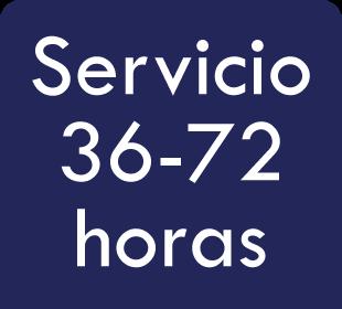 Ventajas: servicio de 36 a 72 horas